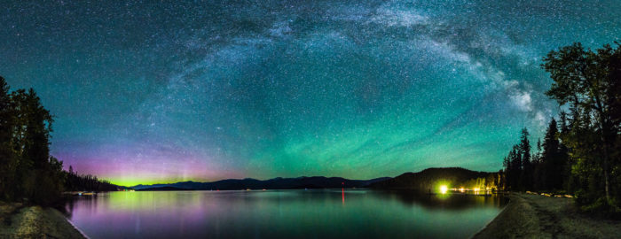 northern lights from priest lake