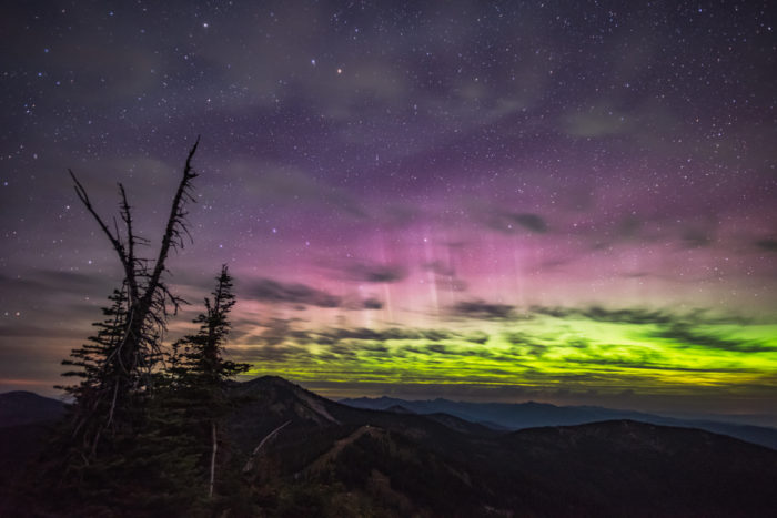 northern lights at schweitzer mountain resort