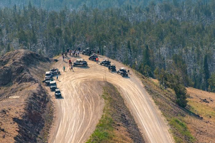 ATV trails aerial view