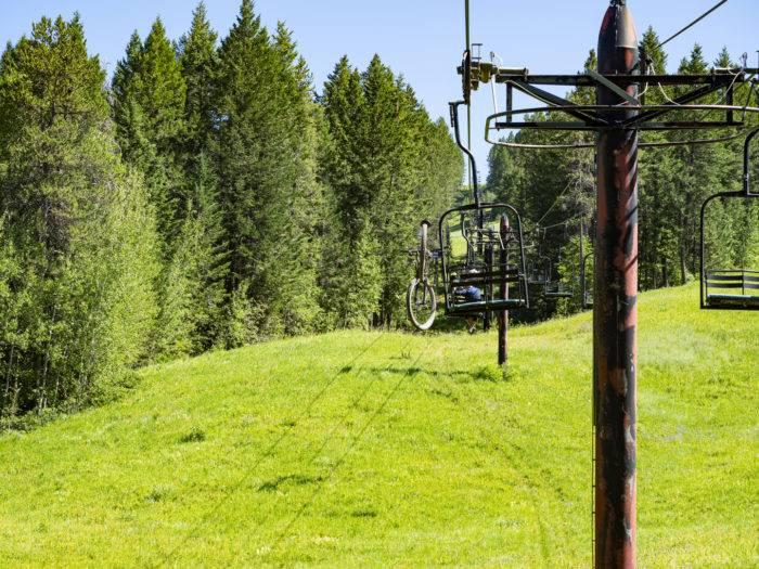lift access mountain bike trails at kelly canyon
