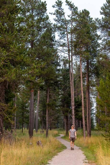 person walking John Muir Trail