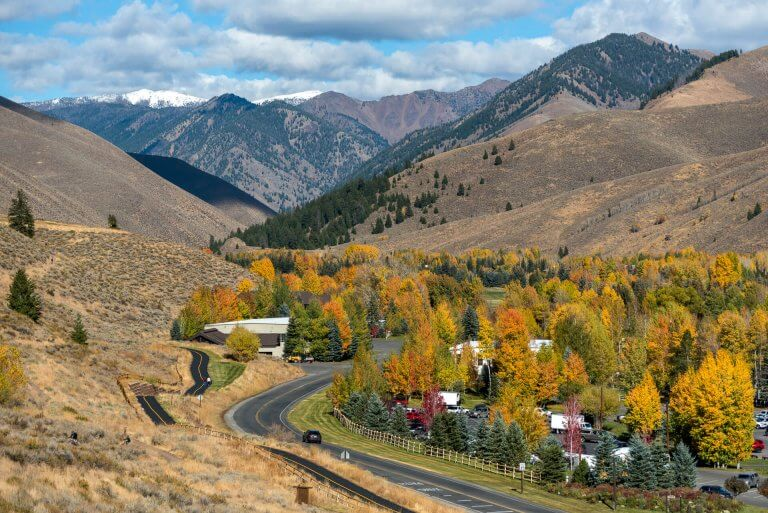fall colors in sun valley
