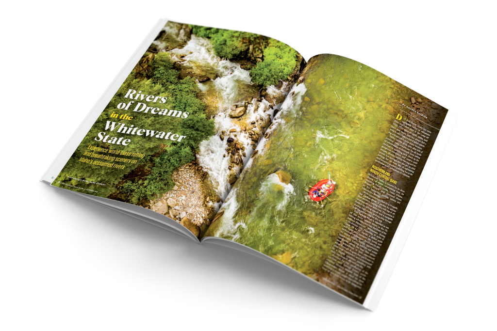 official idaho travel guide whitewater article page spread