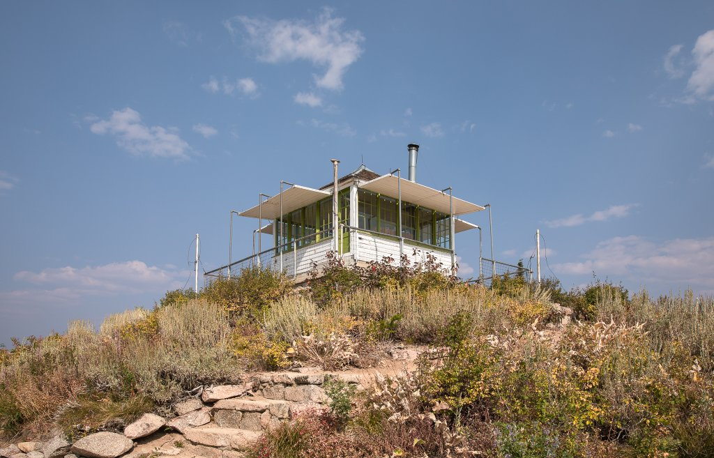 exterior of fire lookout