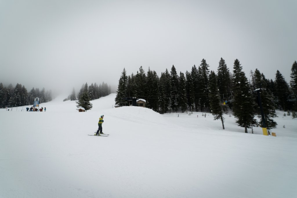 person skiing at Brundage