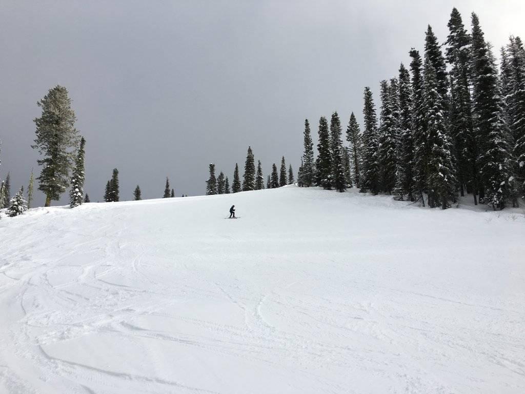 person skiing at Brundage mountain resort