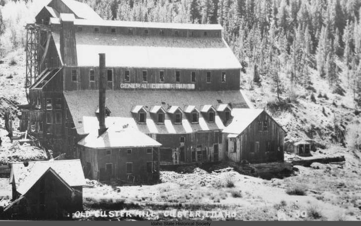 historical photo of mill in custer