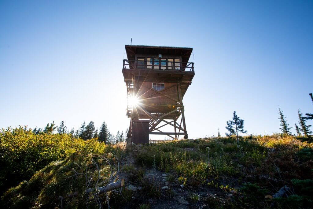 exterior of fire lookout during day