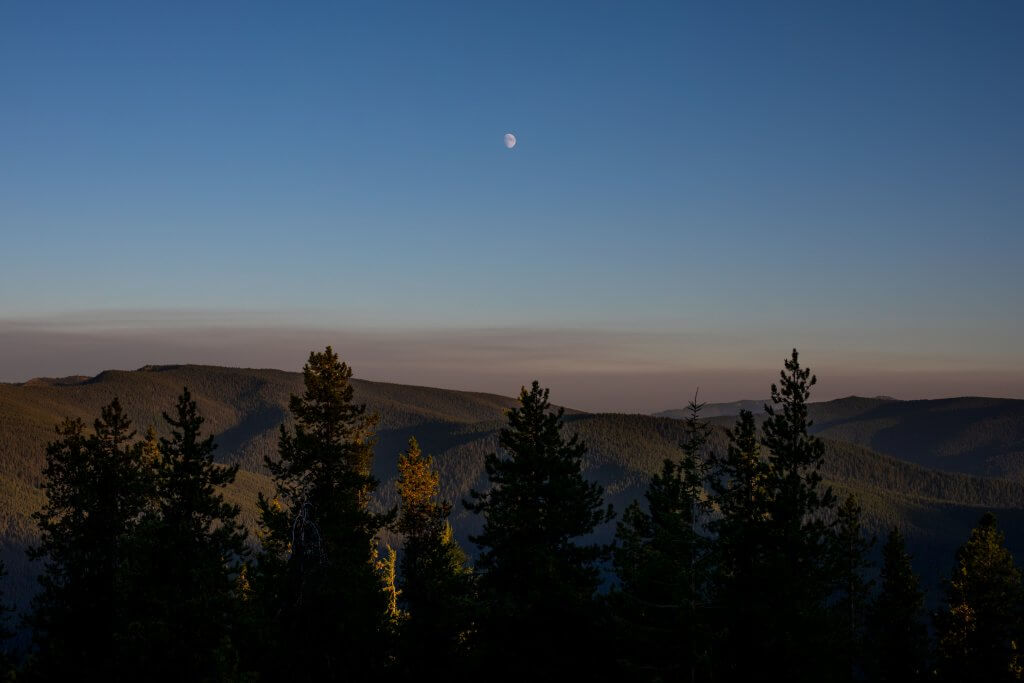 view of night ski from fire lookout deck