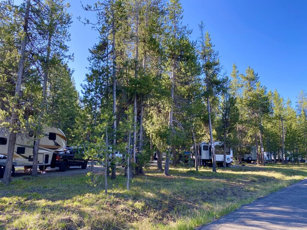 rv campground with camp trailers